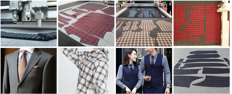 服装裁剪机生产过程样品